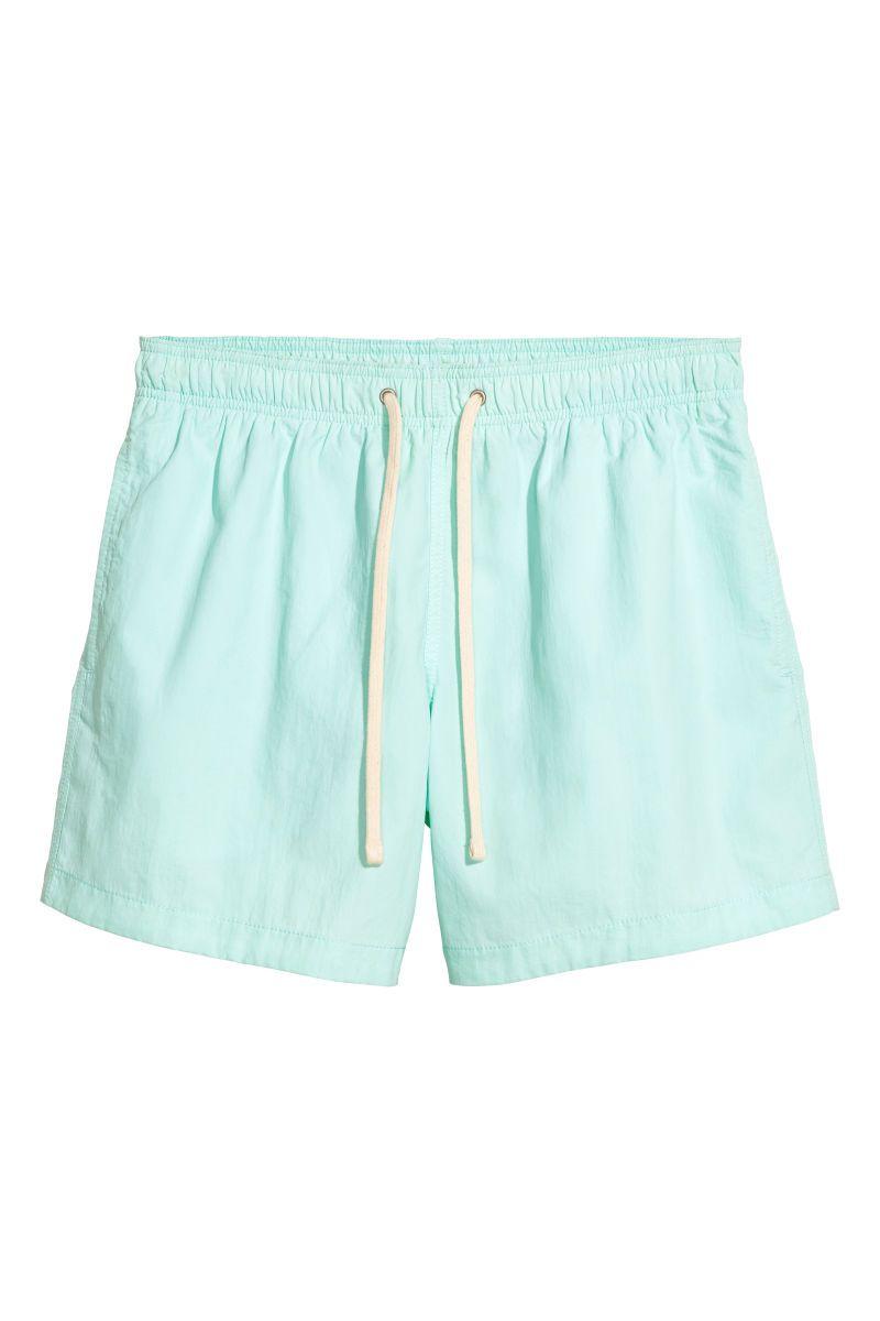 f37bf477f4b Short Swim Shorts | Light mint green | MEN | H&M US | things i want ...