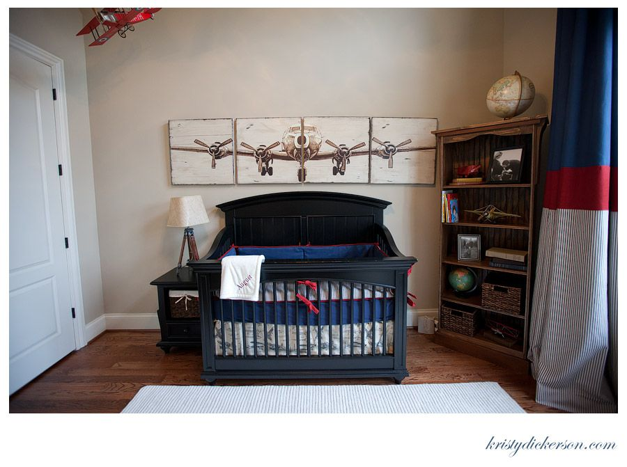 Vintage airplane room on pinterest boys airplane bedroom Vintage airplane decor for nursery