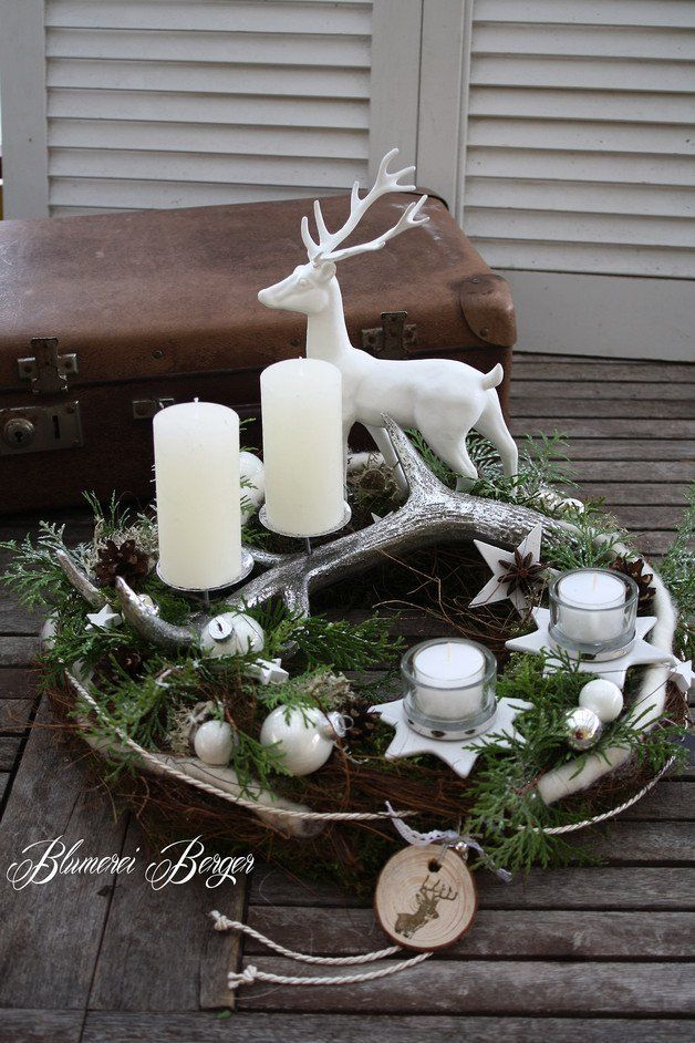 Photo of An Advent wreath of natural materials such as moss, bark, vine, lichen, cones and … – Furnishing ideas