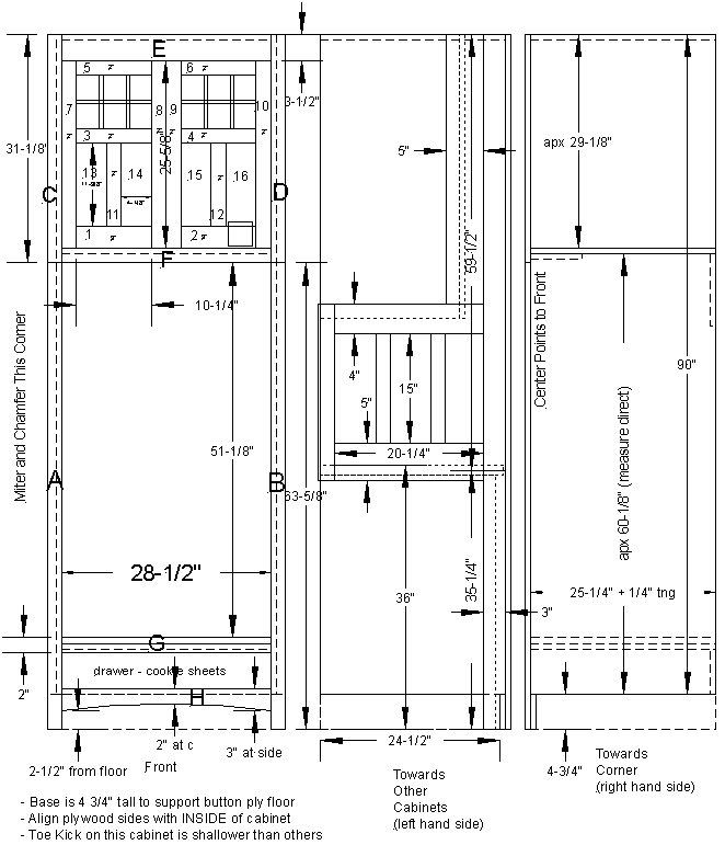 Kitchen Wall Cabinet Plans: Double Oven Cabinet Plan In 2019