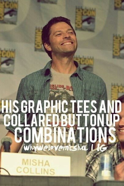 #WhyILoveMishaCollins Yes I love them!! :D (Credit instagram)