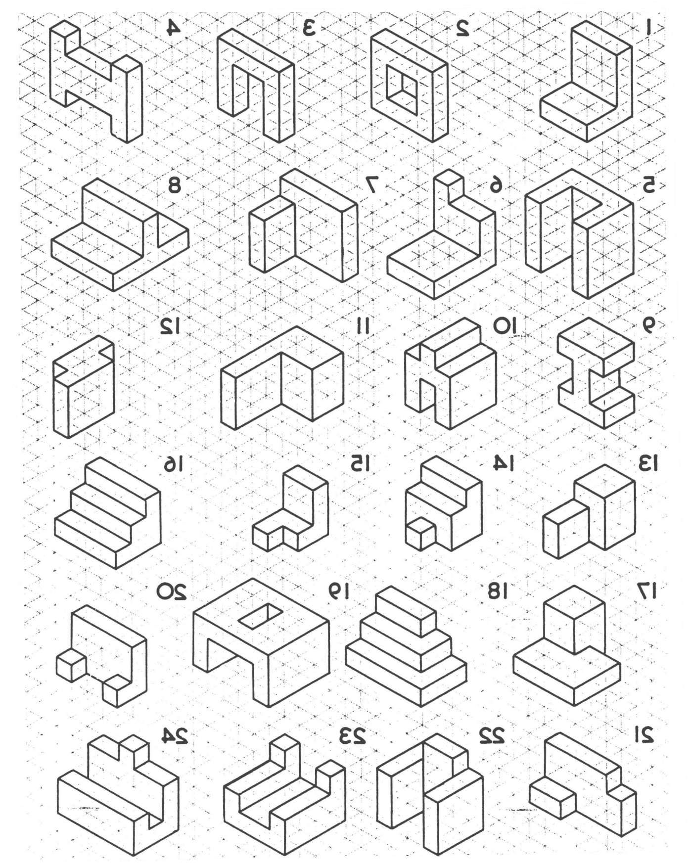 16 Drawing 3d Shapes On Isometric Paper Worksheet In