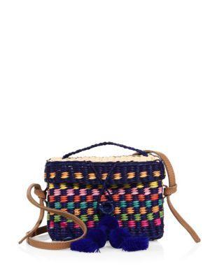 Roge Small Leather Strap Bag in Blue NANNACAY 06jIKN