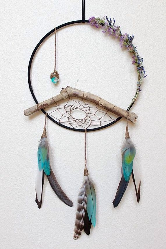 Dream Catcher Materials Stella Blue Dreamcatcherwall Hanginghomedecorboho Style