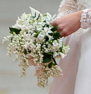 Flowers that were in Kate Middleton's wedding bouquet