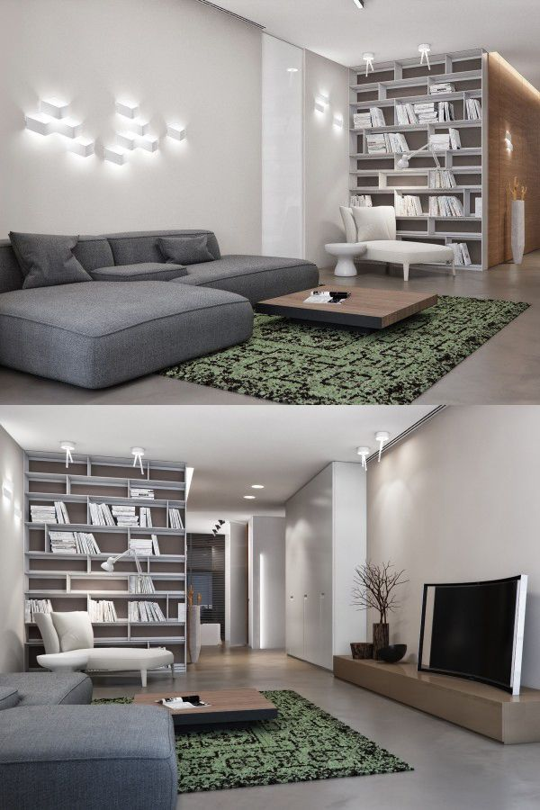 Homedesigning via two apartments with sleek grayscale interiors http ift  yqn also apartmentshowcase rh za pinterest