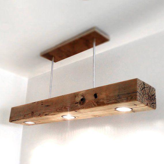Zurückgewonnene Holz Balken Anhänger Spot Licht Fixture rustikale alte Scheune HolzBalken Bauernhaus Kronleuchter moderne hängende Lampe