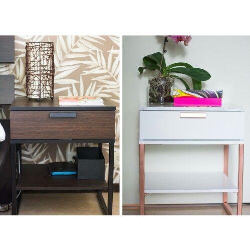 Wall Mounted Nightstand Diy: DIY'd Nightstand. Ikea Hacks, TRYSIL From Ikea. #diy