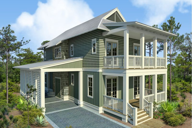 Beach Style House Plan 4 Beds 4 5 Baths 2493 Sq Ft Plan 443 17