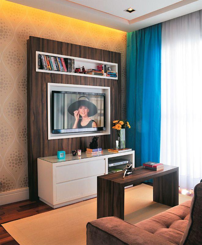 Apartamento pequeno integra o fez render os 43 m for Modelos de apartamentos pequenos