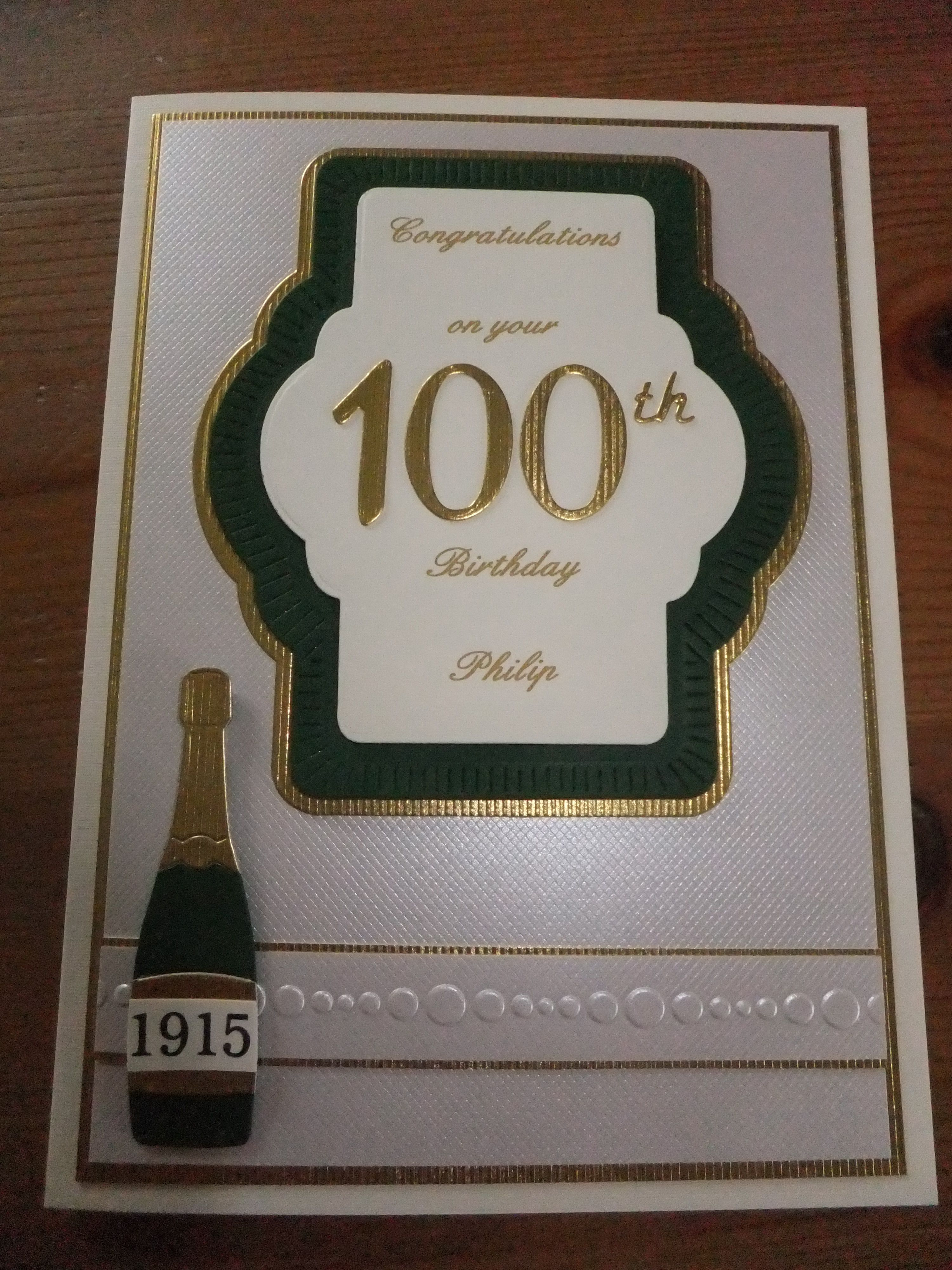 100th Birthday Agenumber Bday Pinterest Cards Card Ideas And