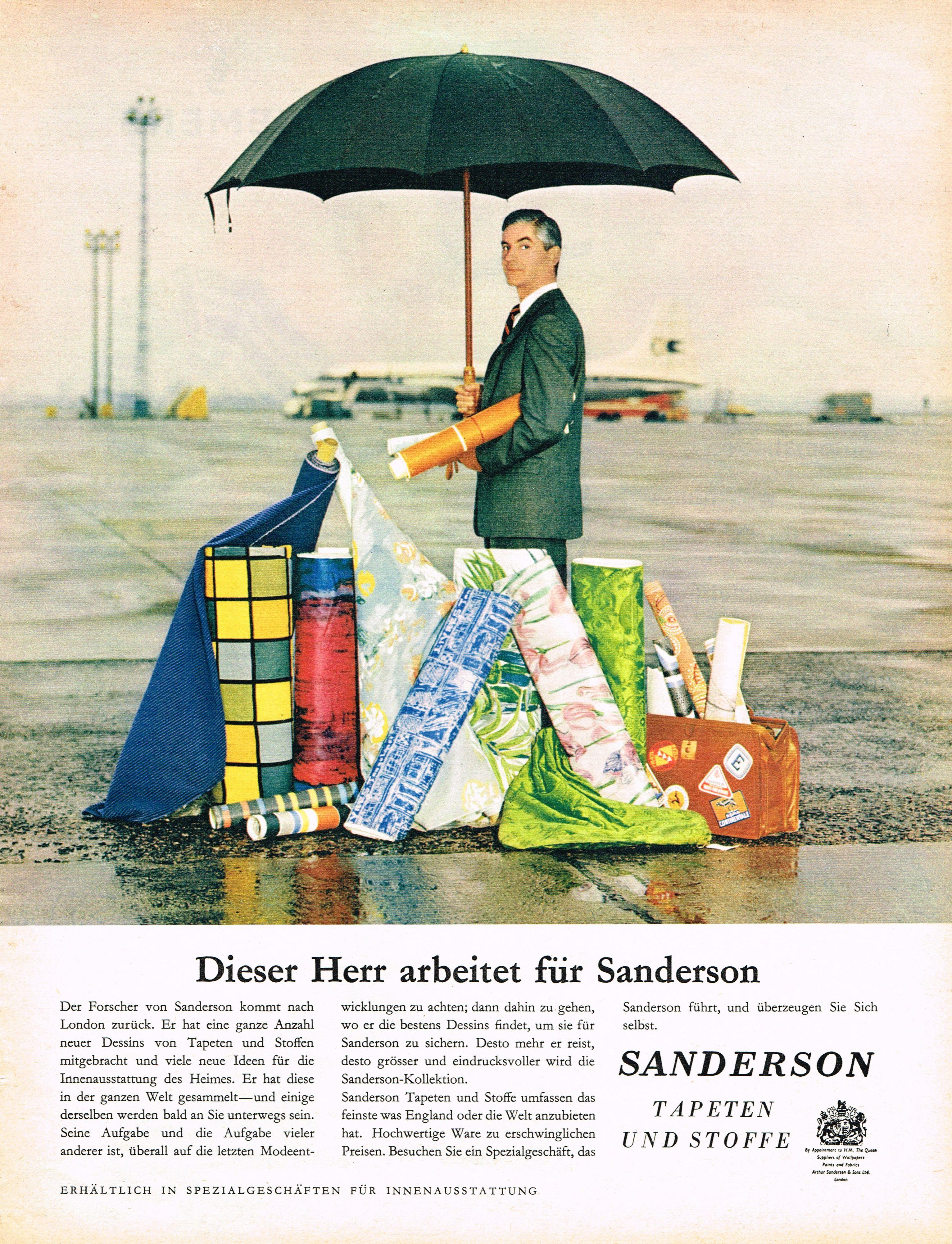 Sanderson Tapeten Werbung um 1960 | alte Tapeten Werbung - old ...