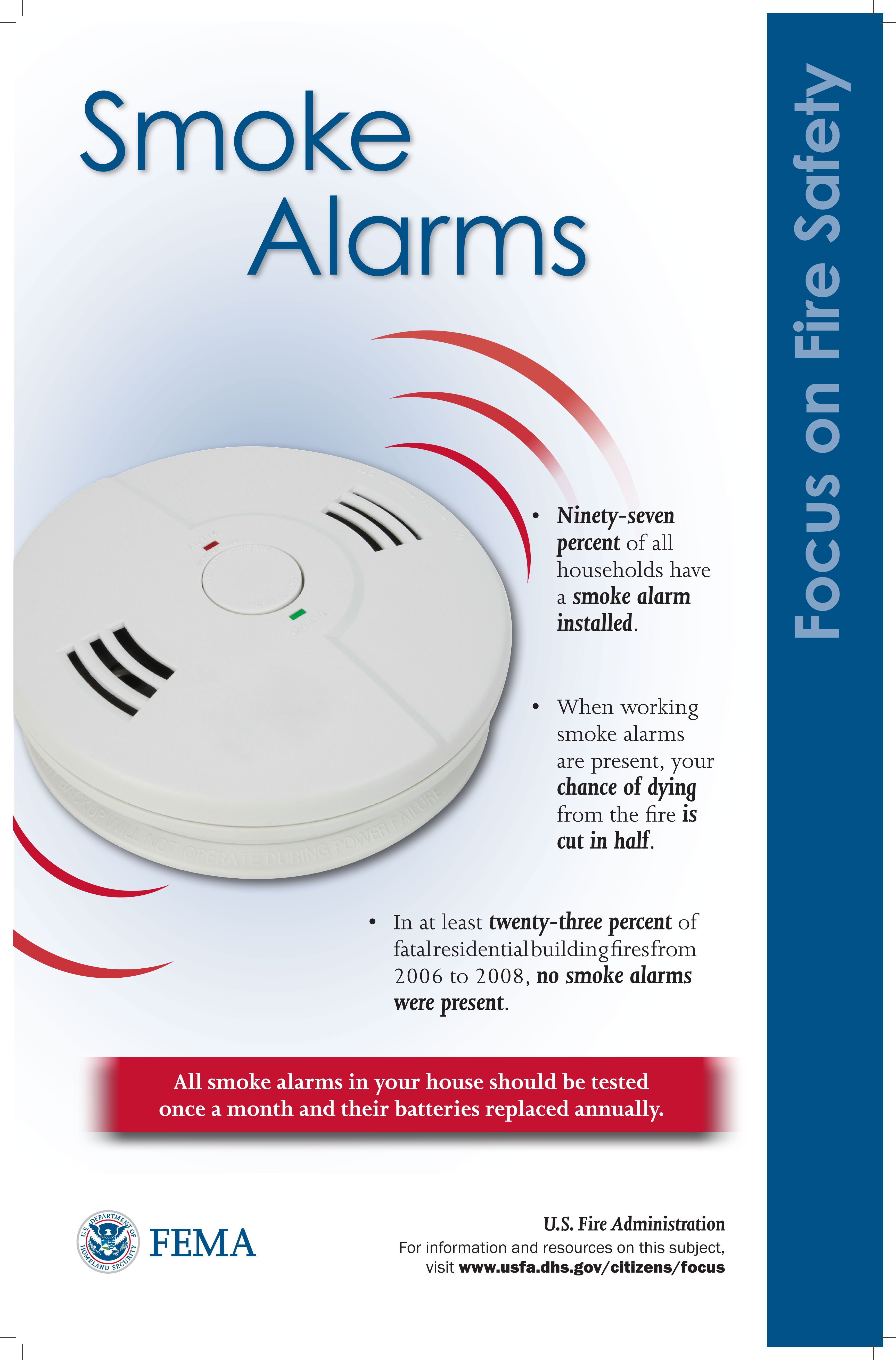 hight resolution of smoke alarms fire safety poster safety posters smoke alarms firefighter firefighter bar