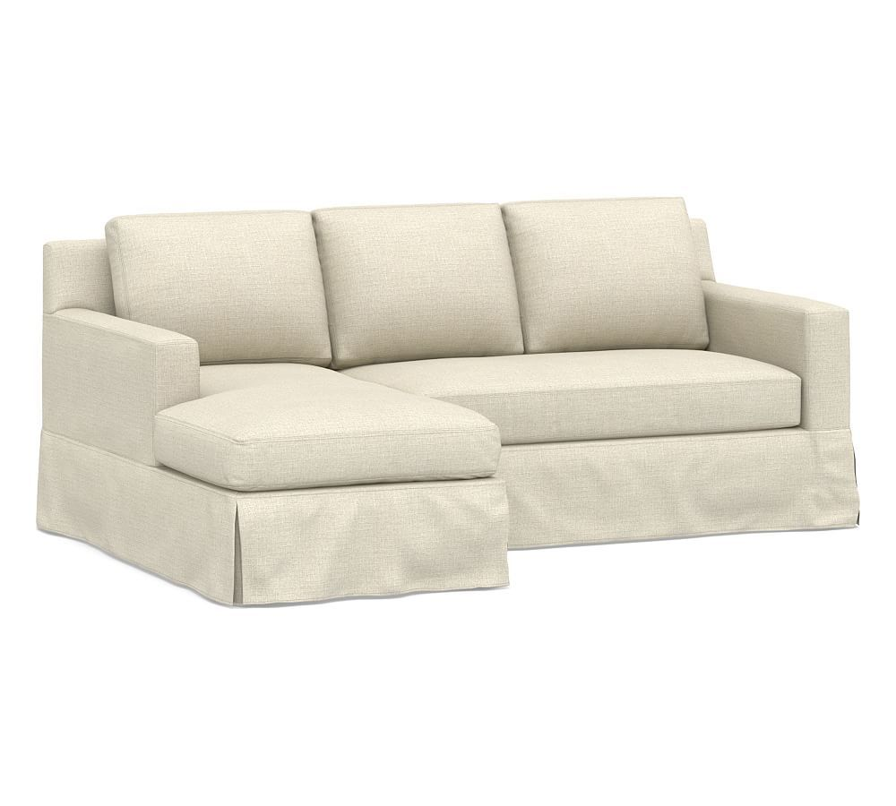 York Square Slipcovered Right Chaise Sofa Sectional
