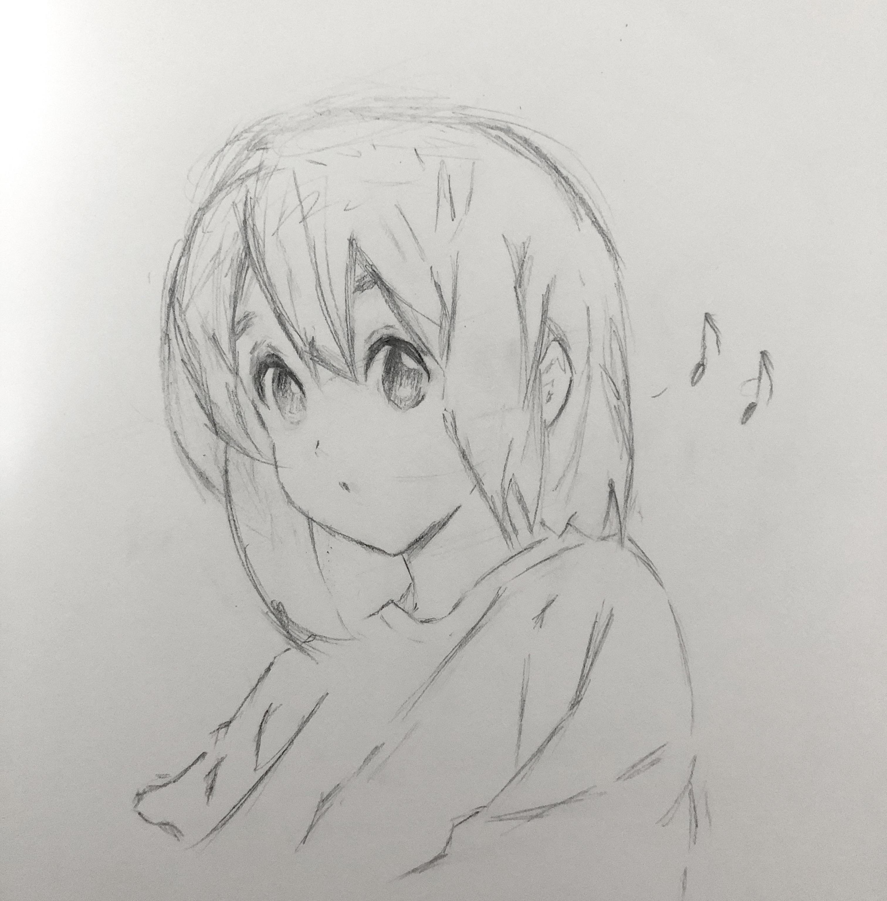 Yui Hirasawa Sketch Anime Animesketch Manga Japan In 2020 Anime Sketch Anime Female Sketch
