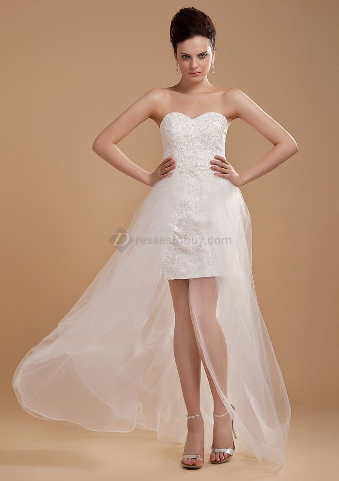 Short Mini Wedding Dresses Beach Bridal
