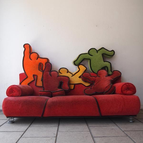Haring Keith / edit  Bretz : Rare canapé anthropomorphe