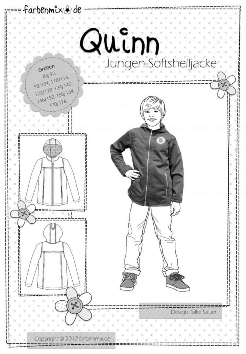 QUINN Softshell-Jacke Papierschnittmuster | Softshell jacke ...