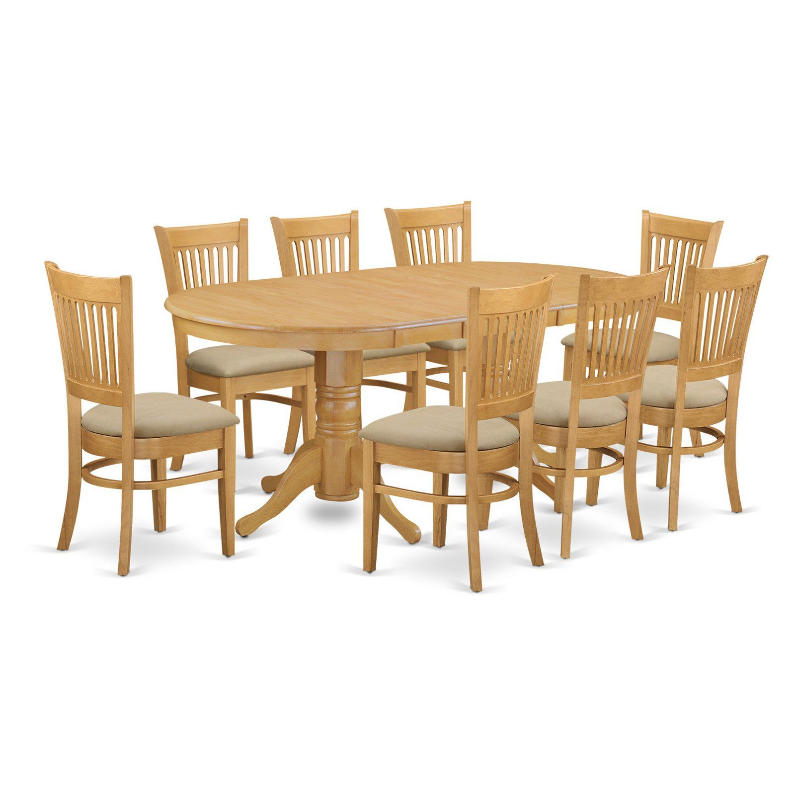 East West Furniture Vancouver 5 Piece Hepplewhite Modern Dining
