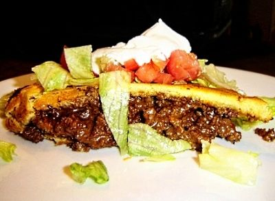 Mexican Casserole-I made this last night for dinner and it is THE bomb!  I added jalepenos to the beef, and stired in some sour cream instead of the ro-tel tomatoes.  Served it with pico de gallo on top.  YUMMY!!!!