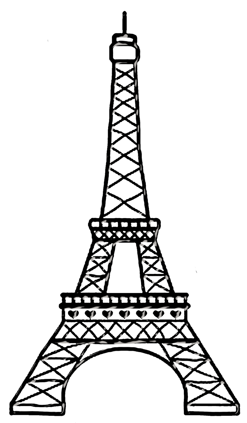 Виды, картинки эйфелевой башни карандашом для срисовки