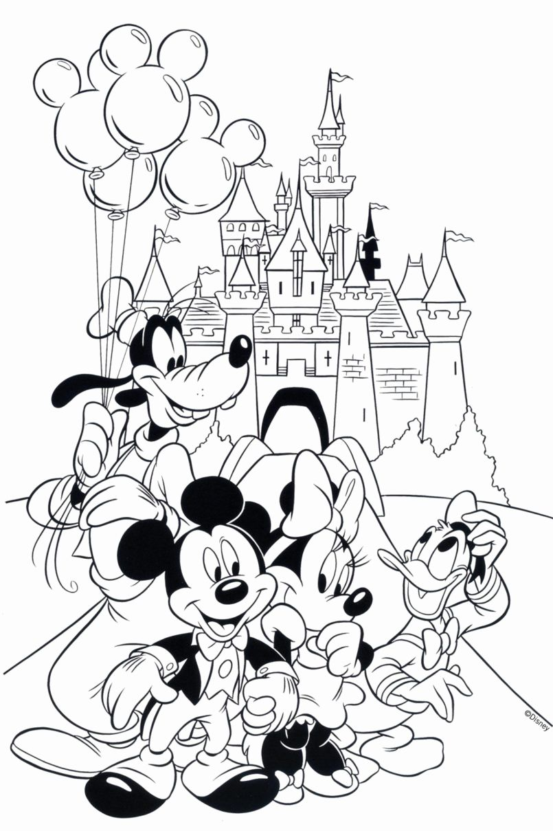 Coloring Pages For Kids Summer Disney In 2020 Mickey Mouse Coloring Pages Disney Coloring Pages Cartoon Coloring Pages