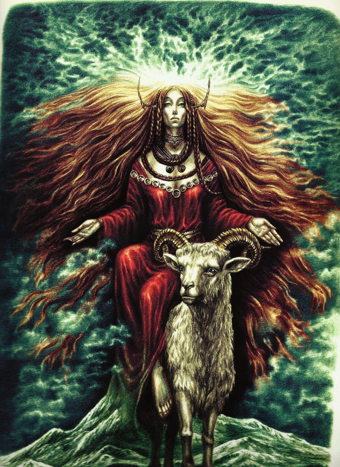 No alto das montanhas, entre as rochas escarpadas são cavernas onde habita Mari, deusa suprema da mitologia basca. Ela é descrita como várias mulheres e às vezes como diferentes animais vermelhos, sendo um deles um bode. Ela às vezes é mostrado como andar através do céu em uma carruagem puxada por cavalos ou carneiros. Estátuas de sua geralmente apresentam uma lua cheia atrás de sua cabeça.
