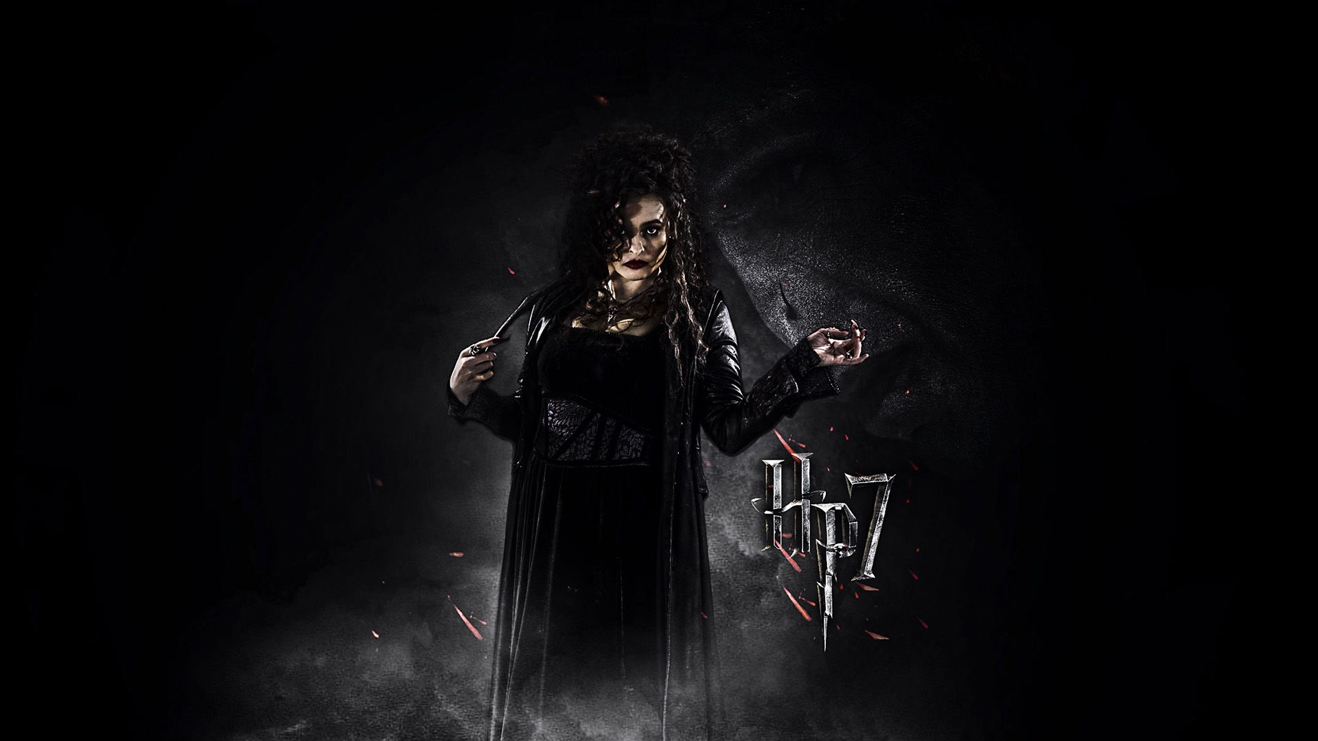 Helena Bonham Carter as Bellatrix Lestrange in Harry Potter and the Deathly Hallows: Part 2.