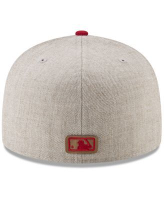 purchase cheap 06471 0914f New Era Cleveland Indians Leather Ultimate Patch Collection 59FIFTY Fitted  Cap - Tan Beige 7 1 8