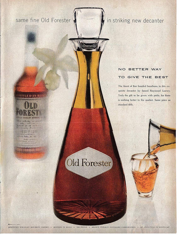 Amazon Com 1955 Old Forester Bourbon Whiskey New Decanter Original 13 5 10 5 Magazine Ad Everything Els Bourbon Whiskey Alcohol Spirits Alcohol Marketing