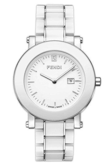 Fendi Large Ceramic Round Case Watch | Nordstrom