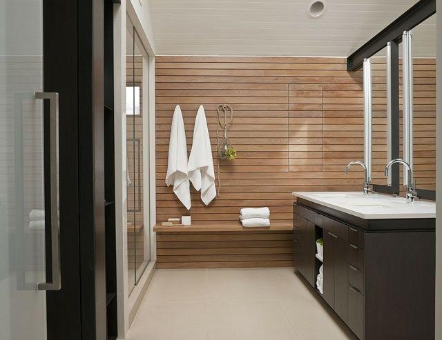 105 Badezimmer Design Ideen U2013 Stein Und Holz Kombinieren