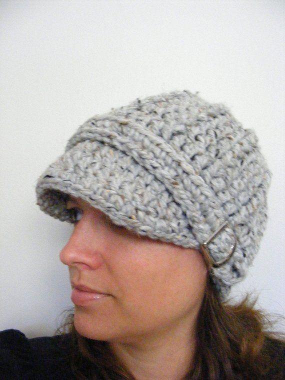Womens Hat Womens Beanie Womens Cap Gray Marble Gray Hat Gray Beanie Gray  Cap Silver Buckle Beanie C d0e32351c1