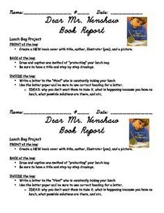 Dear Mr. Henshaw Novel Study Book Unit   Novels, School and ...