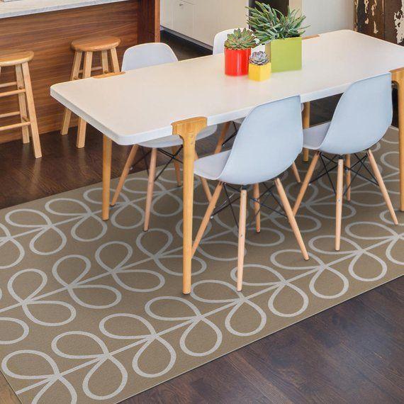 Vinyl Floor Mat Area Rug Pvc Or Kitchen In Beige