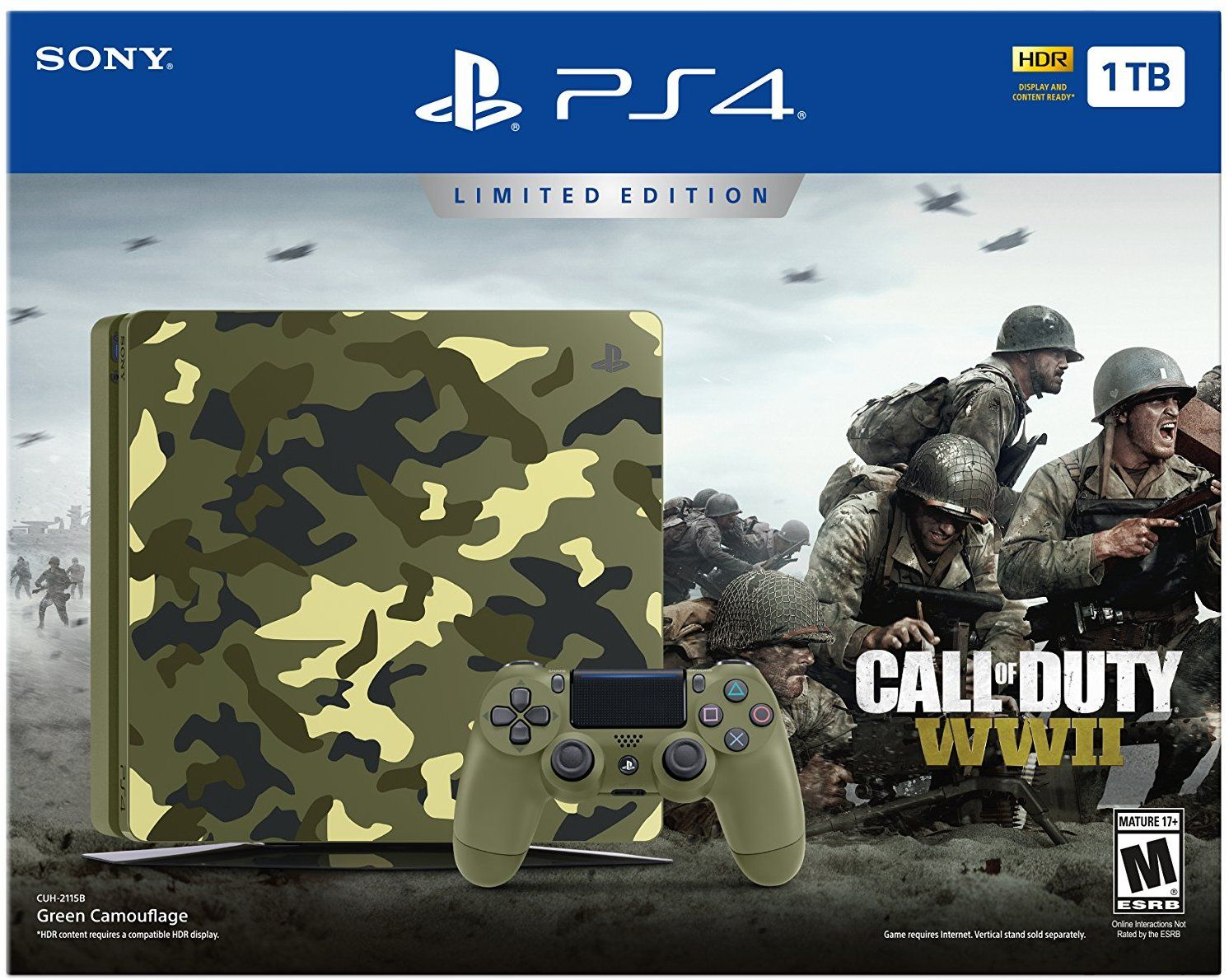 Playstation 4 Slim 1tb Limited Edition Console Call Of Duty Wwii Bundle Discontinued Video Games Call Of Duty Call Of Duty Black Playstation