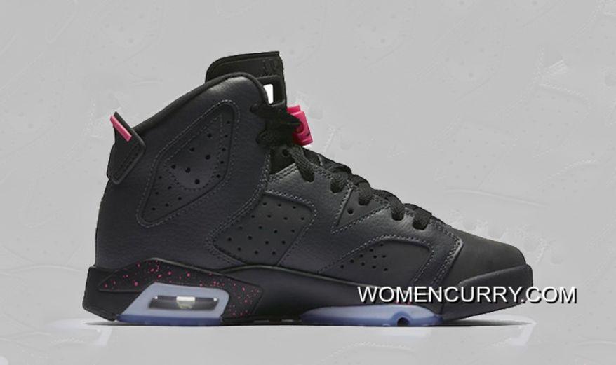 """Hyper Pink"""" Air Jordan 6 GS Anthracite Black-Hyper Pink Super Deals ... d8cb60e53"""