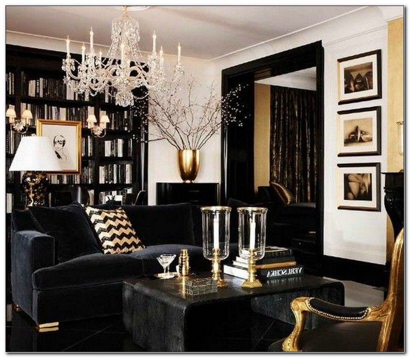 Purple Black And Gold Living Room Gold Living Room Decor Gold