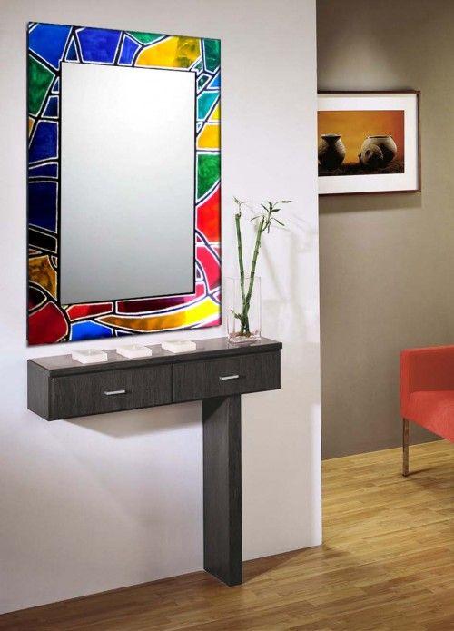 miroir artistique en verre mod le vitrail art nouveau vitrail pinterest vitrail miroir. Black Bedroom Furniture Sets. Home Design Ideas