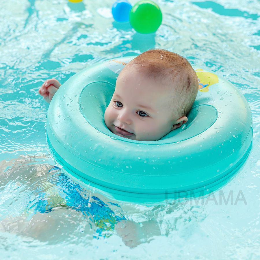 Product details of new inflatable floating swim ring kids children toy - 2017 New Design High Quality Safety Baby Need Not Inflatable Floating Ring Round The Neck Float Swimming Pool Toy