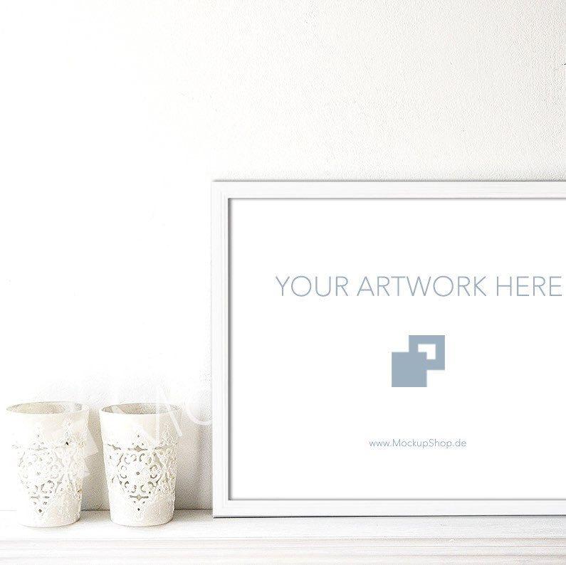 New white Frame Mockup in 11x14\