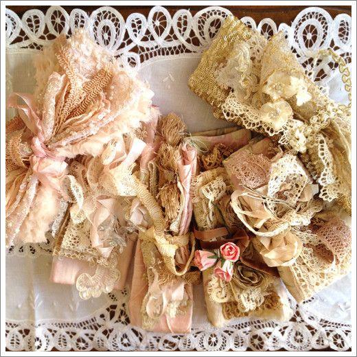 Wonderful lace snippets ~ bundles of joy~❥