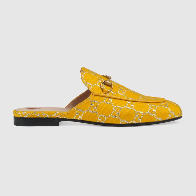 yellow gucci princetown
