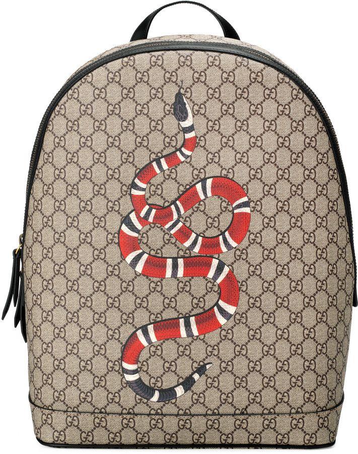 6fa94e7cb Kingsnake print GG Supreme backpack Mochila Masculina, Interestelar, Gucci,  Estilo