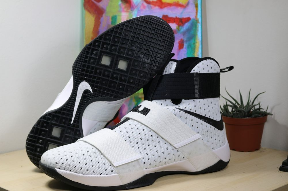 quality design 2b277 aaf7e New Nike Lebron Soldier 10 White Black Size 16 - 18 Basketball Shoes  856489-100  Nike  BasketballShoes