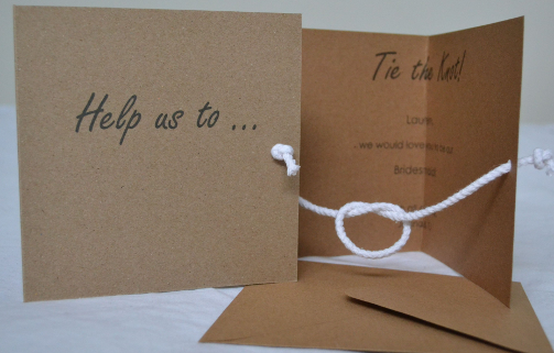 Help us to... Tie the Knot!