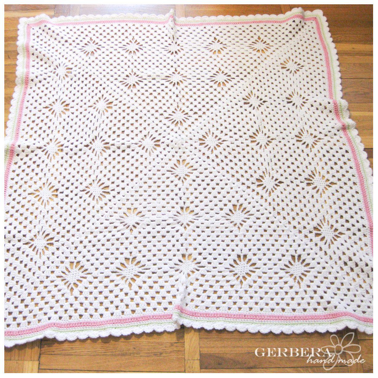 Crochet Baby Blanket Pattern granny square | Cobijitas bebe ...