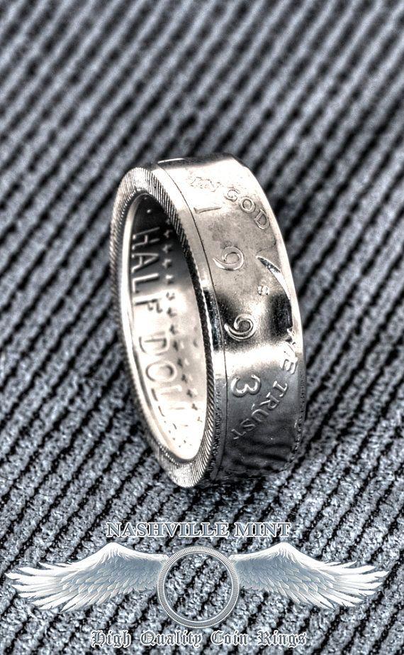 Coin Ring 1993 Silver Half Dollar Coinring Jfk Kennedy 26th