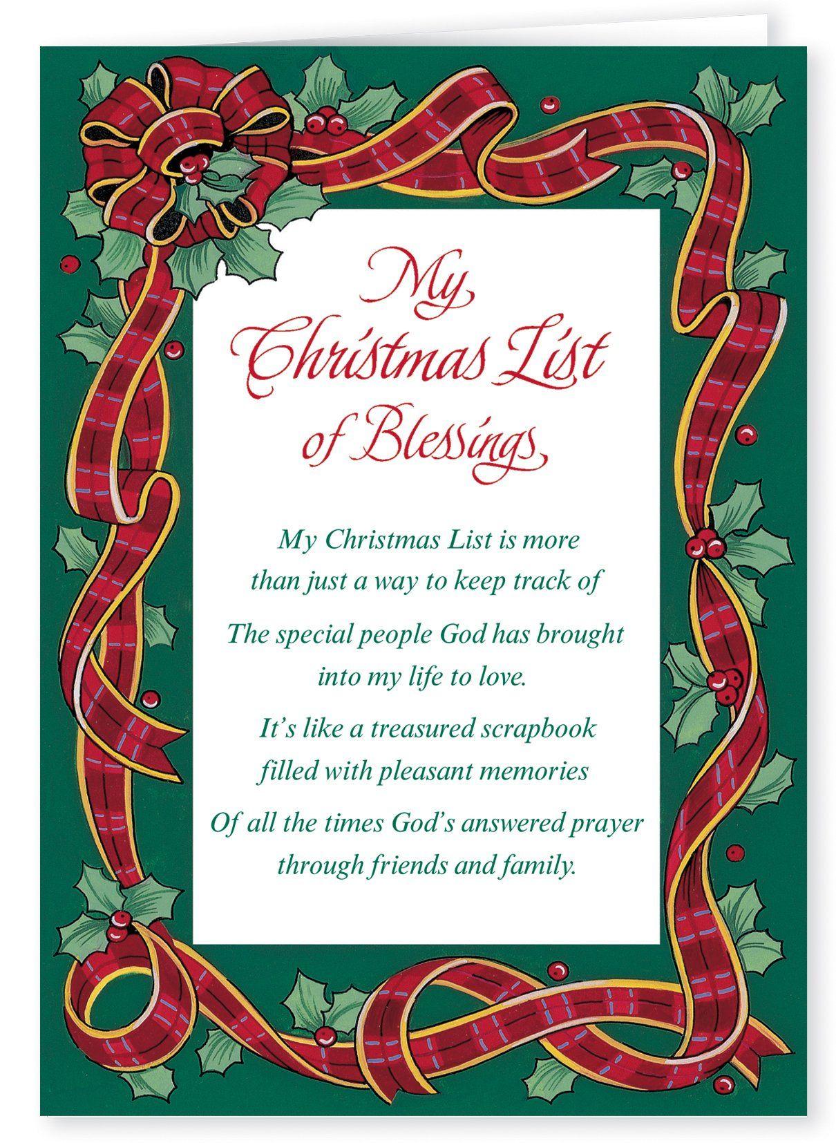 WalterDrake My Christmas List Religious Christmas Card Set of 20 ...