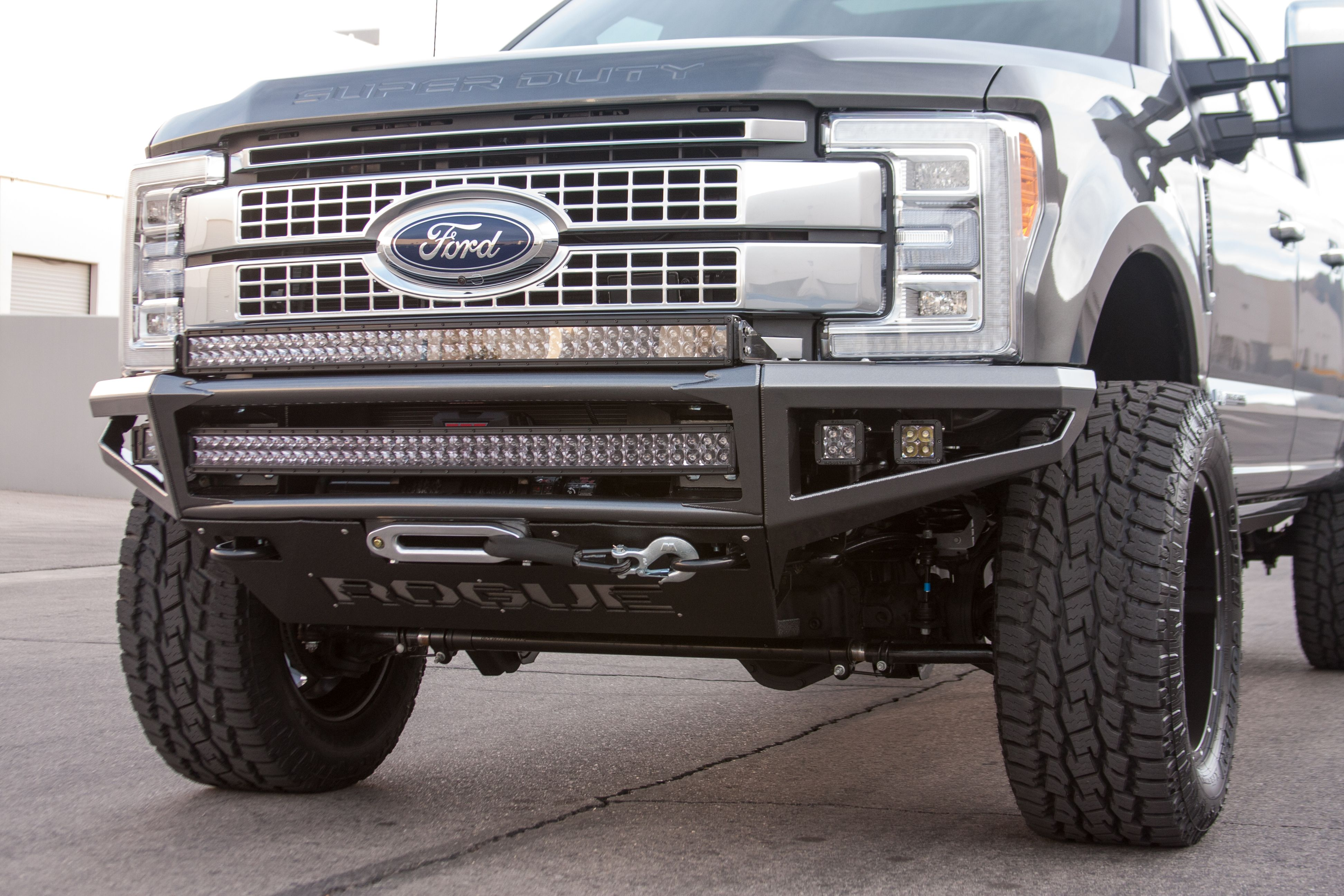 hight resolution of rogue racing enforcer front bumper for 2017 ford f 250 f 350